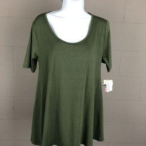 Lularoe Women's T-shirt Size S Green RK5 NWT